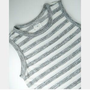 Lou & Grey Sleeveless Striped Sweater Tunic